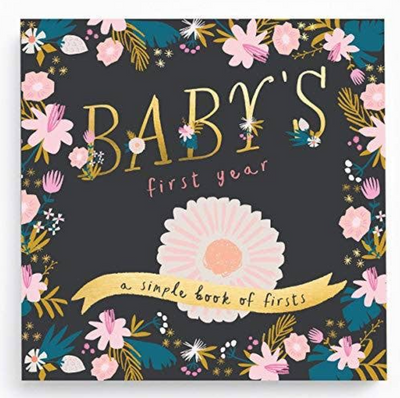 Modern baby's first year memory book. A simple book for mamas and makes the perfect gift!