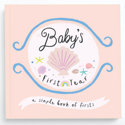 Adorable Baby's First Year Memory Book - Beach theme - A simple book of firsts