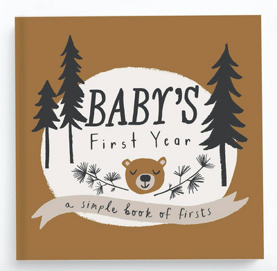 Baby's First Year camping themed memory book. Perfect to capture memories. Great gift for an expecting boy mama. Baby boy gifts!