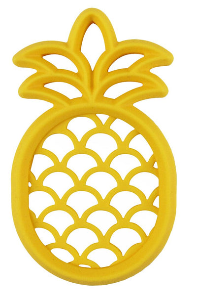 The perfect teether for your rainbow baby. Pineapple baby silicone teether, BPA FREE