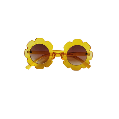 Yellow Flower Sunglasses for Babies and Girls