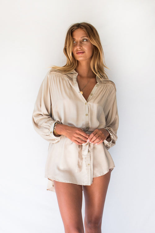 LYRA SHIRT DRESS - DUNE