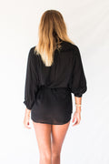 LYRA SHIRT DRESS - BLACK