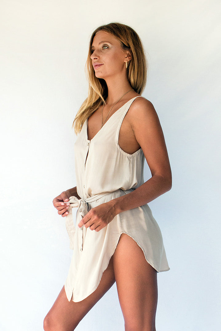 NASHIRA SHIRT DRESS - DUNE