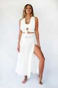 VENUS MAXI SKIRT - WHITE