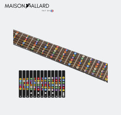 MAISON ALLARD™ | FRETTE DE GUITARE - PLANCHE D'AUTOCOLLANTS DE NOTES