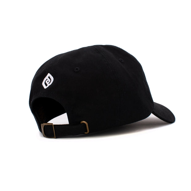Black REAL Adult Low-Profile Cotton Twill Dad Cap
