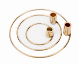 Bougeoir - Orbital set of 3 brass