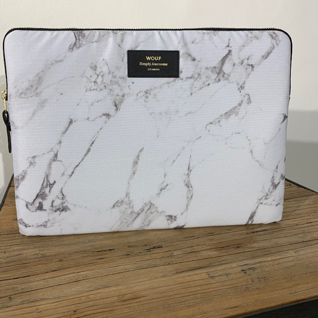 "Housse protectrice pour MacBook 13"" (White Marble)"