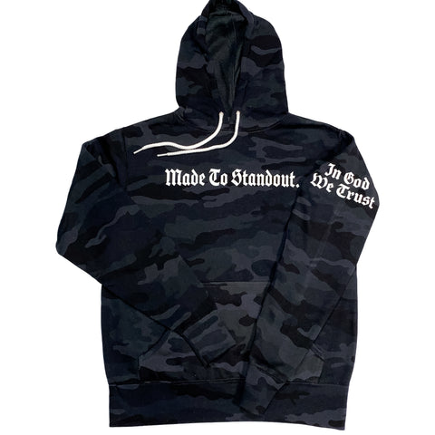 In God We Trust Lightweight Hoodie - Black Camo