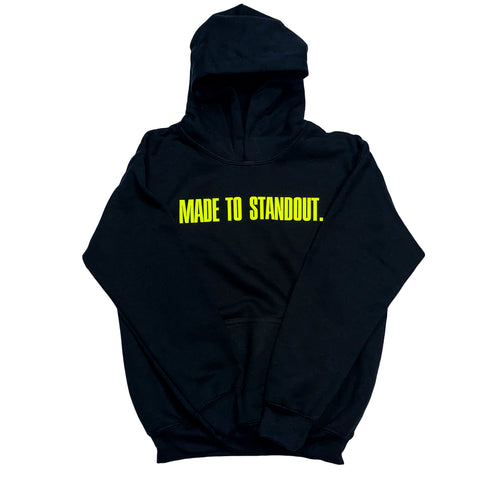 Youth Classic Hoodie - Black/Neon
