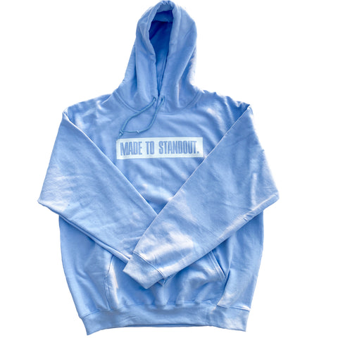 Box Logo Hoodie - Light Blue/White