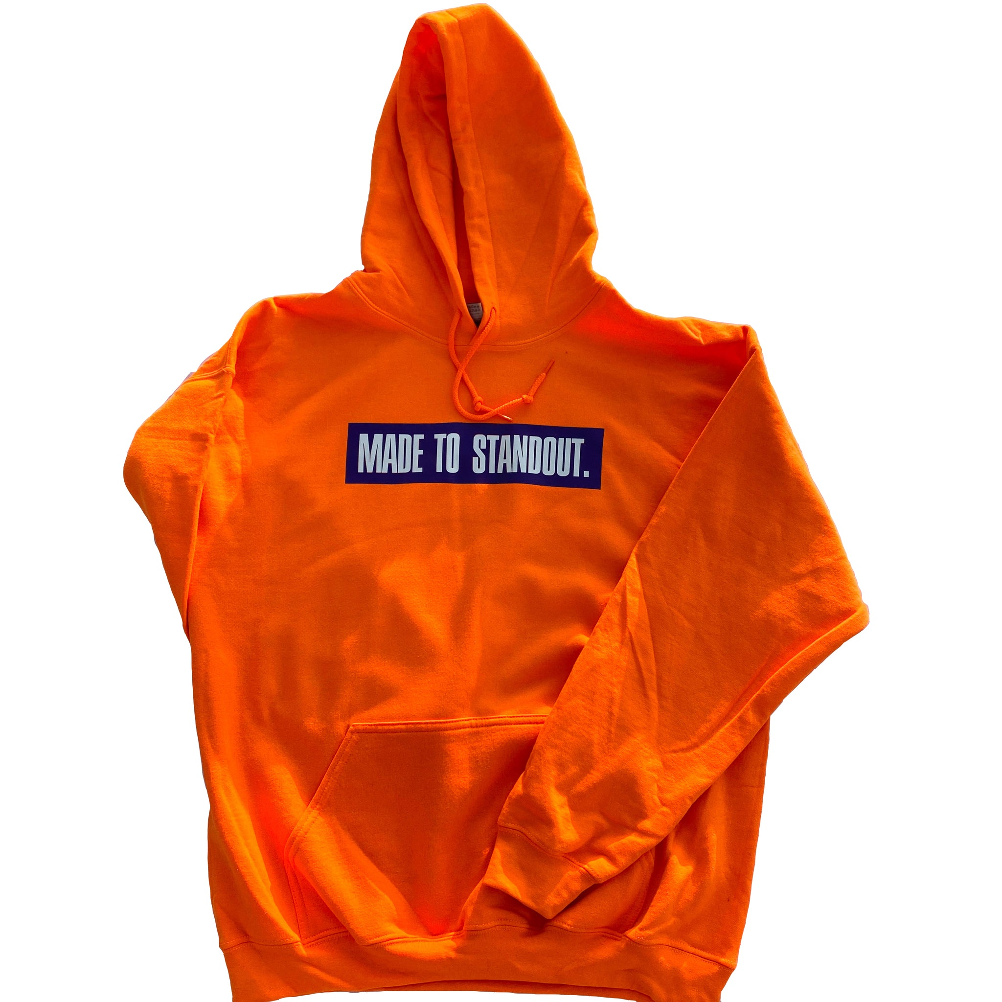 Box Logo Hoodie - Orange/Purple