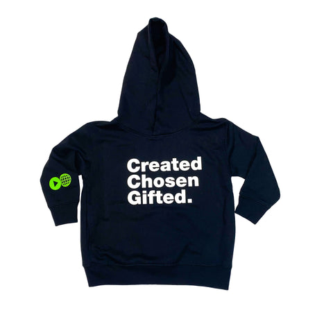 Toddler Created Chosen Gifted Hoodie - Black