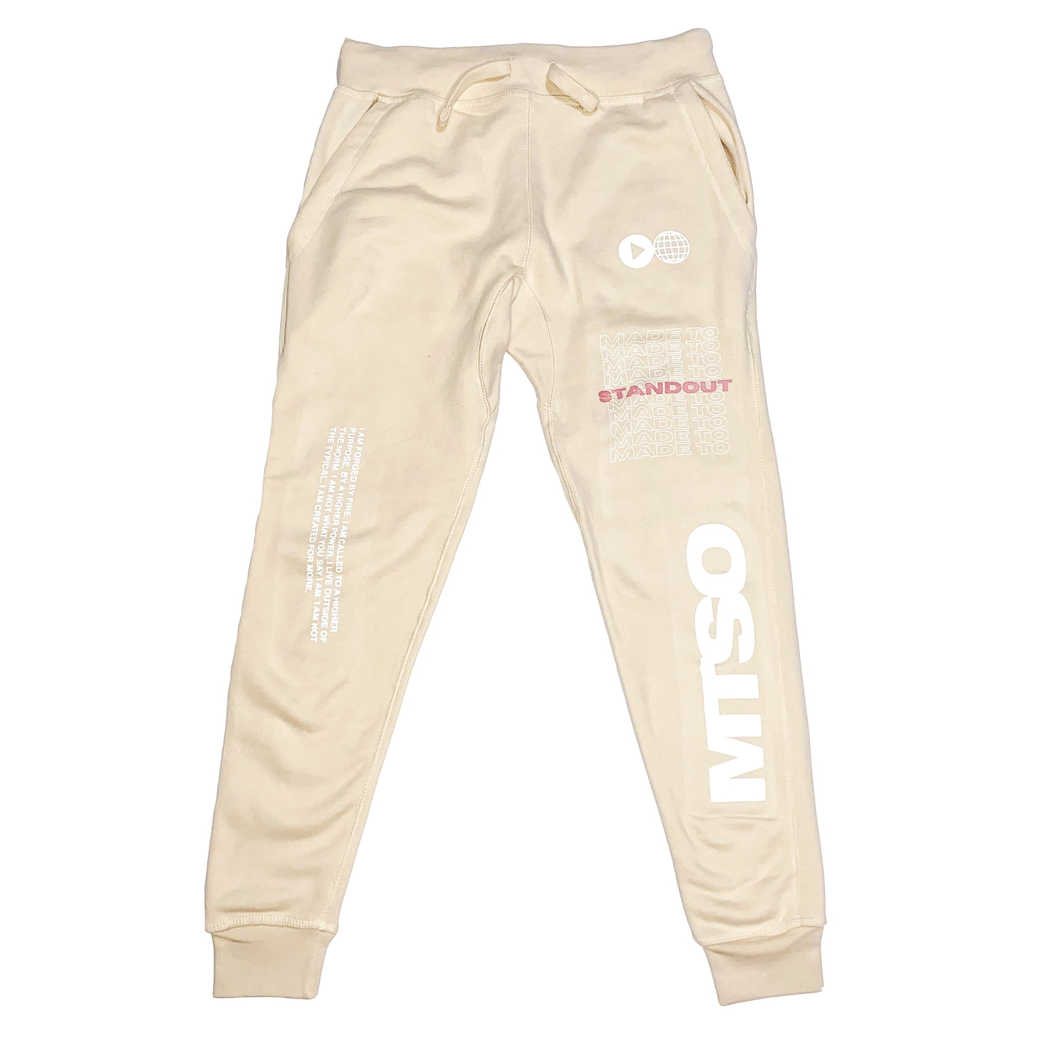 Forged By Fire Skinny Joggers - Cream