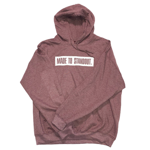 Box Logo Hoodie - Heather Maroon/White