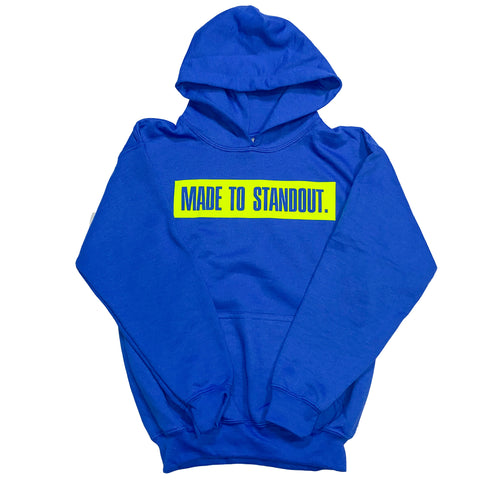 Youth Box Logo Hoodie - Royal Blue/Neon