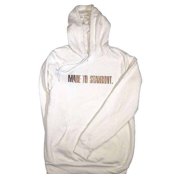 Vintage Shine Rose Gold Hoodie - Vintage White/Metallic Rose Gold