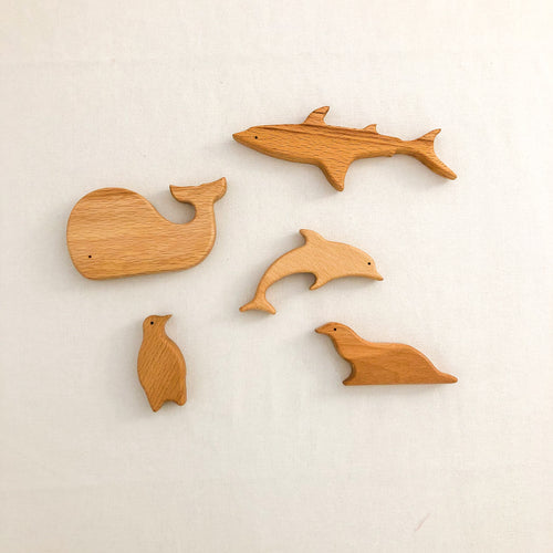 Handmade Wooden Ocean Animals - Chicke