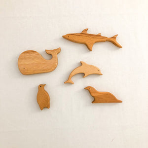 Handmade Wooden Whale - Chicke