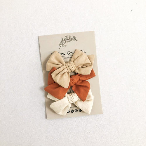 Oat & Honey Bow Set - Chicke