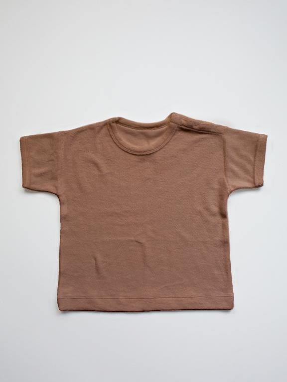 Terry Boxy Tee - Cinnamon - Chicke