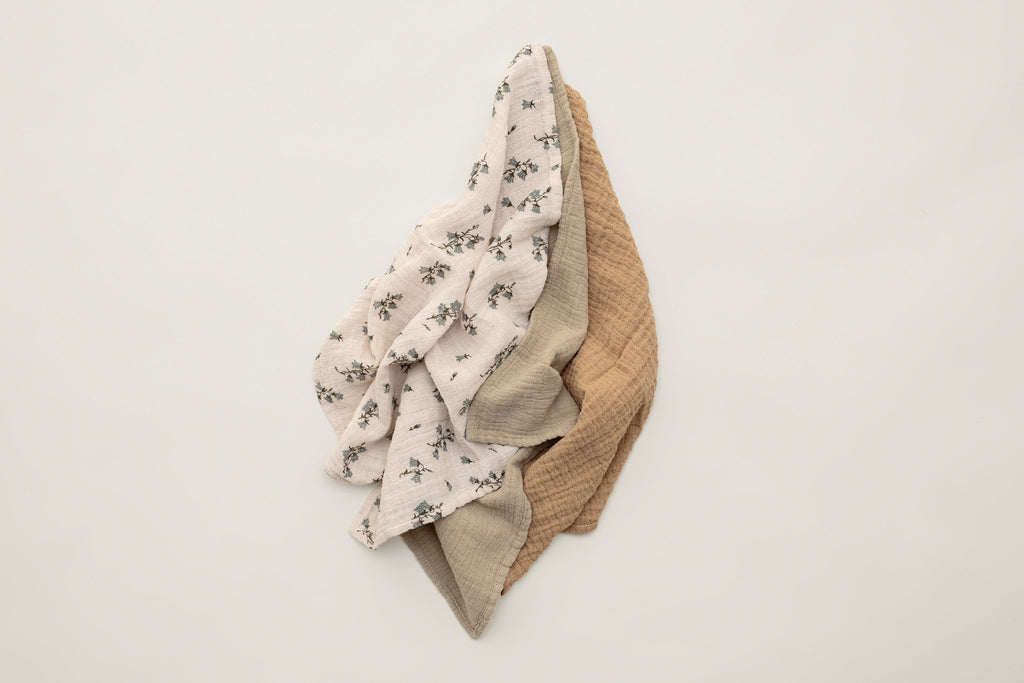 Bluebell Muslin Burp Cloths