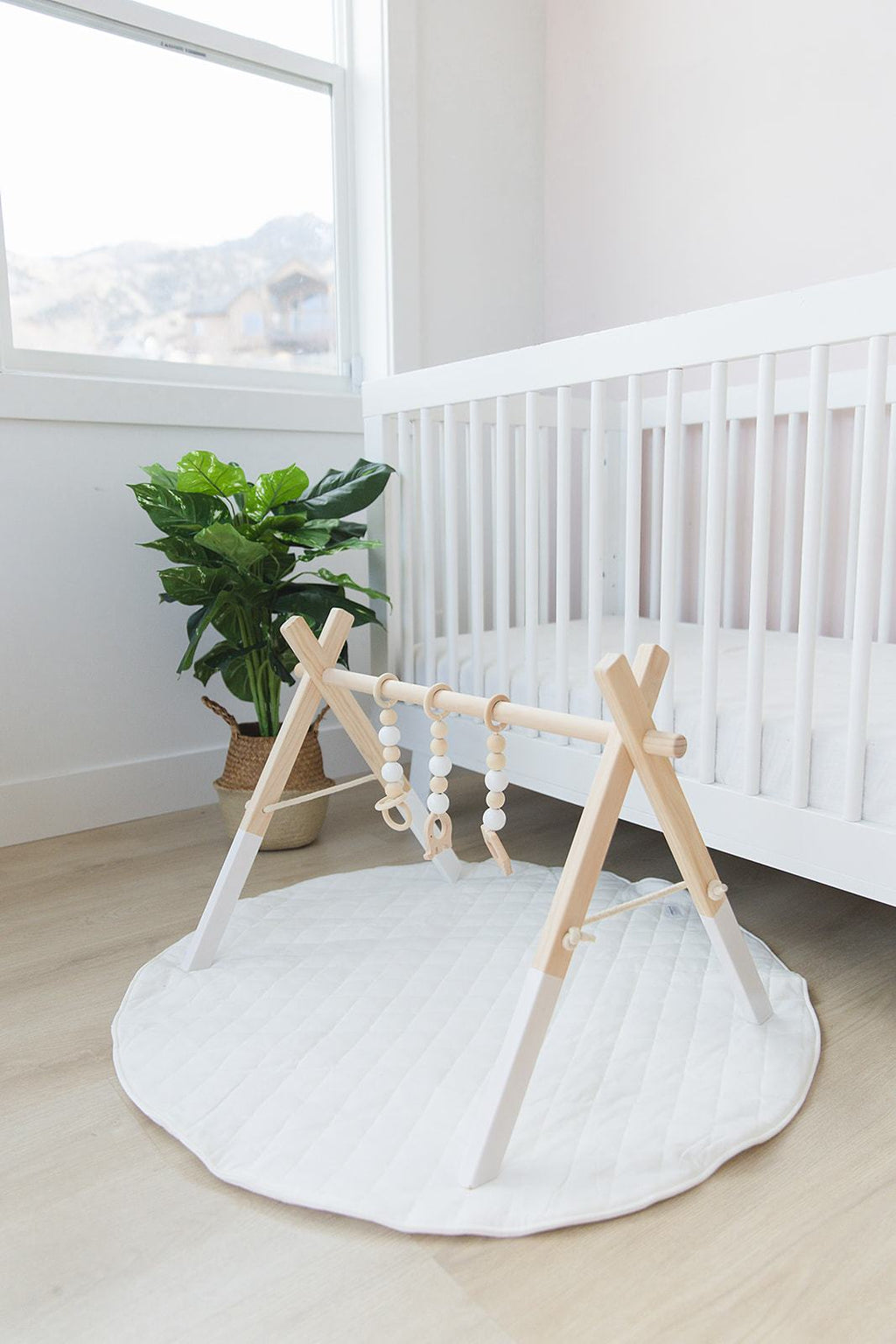 Wooden Play Gym - White Toys