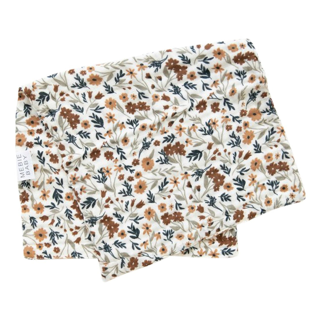 Harvest Floral Burp Cloth - Chicke