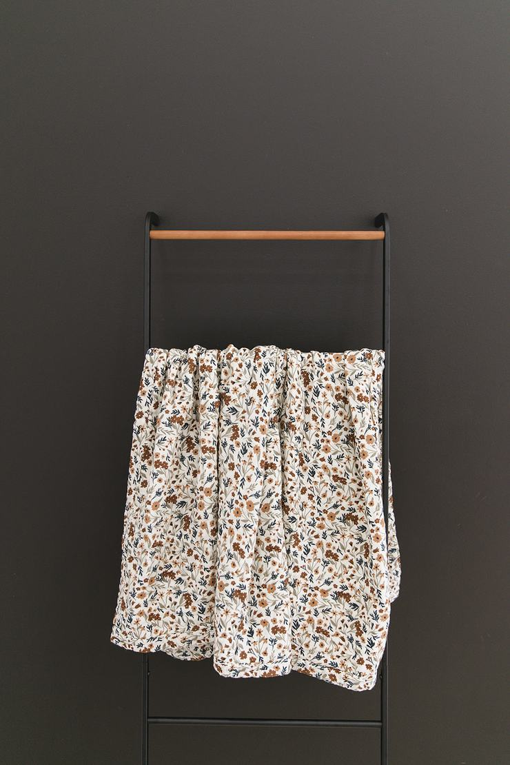 Harvest Floral Muslin Swaddle - Chicke
