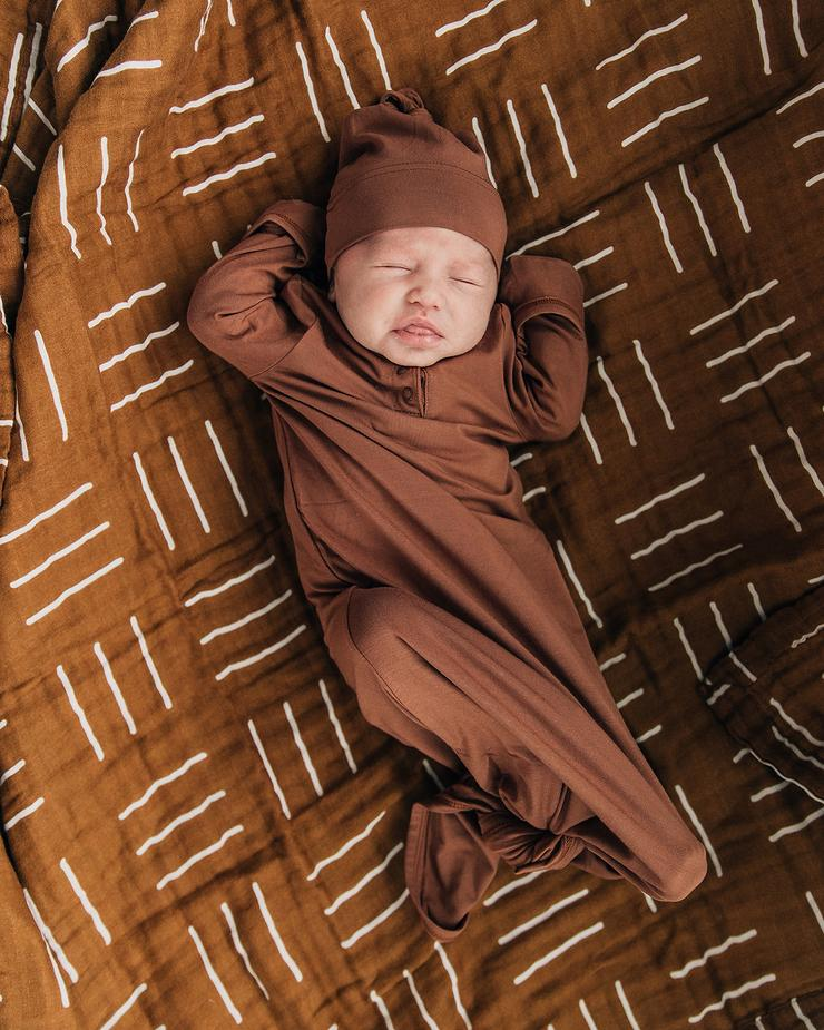 Mustard Mudcloth Swaddle - Chicke