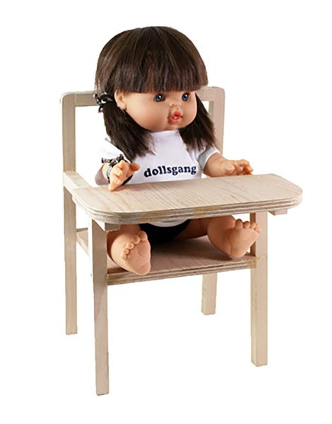 Small Wooden Doll High Chair