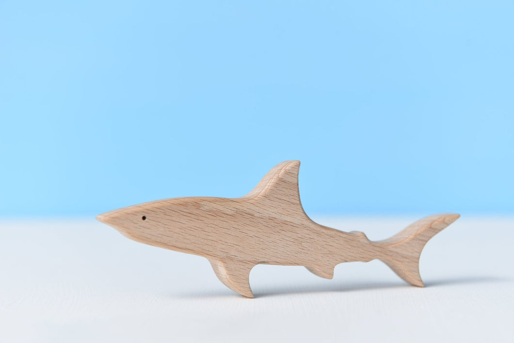 Handmade Wooden Shark - Chicke
