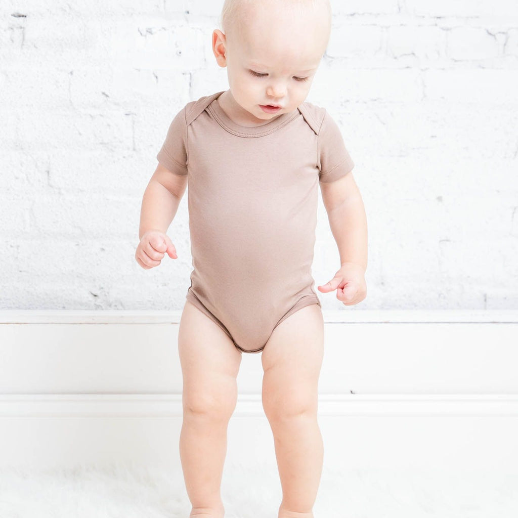 Short Sleeve Bodysuit - Truffle