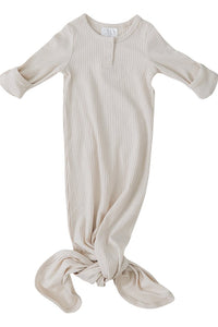 Organic Cotton Ribbed Gown - Vanilla - Chicke