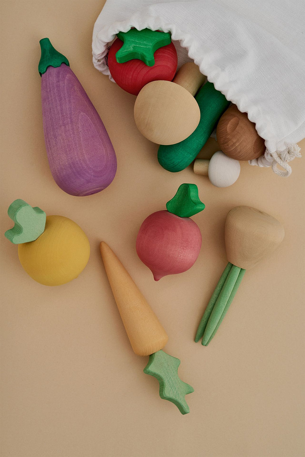 Wooden Vegetable Play Set - Chicke