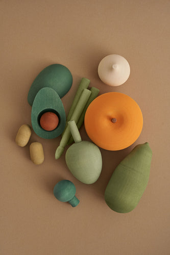 Wooden Vegetable Play Set Volume 2 - Chicke