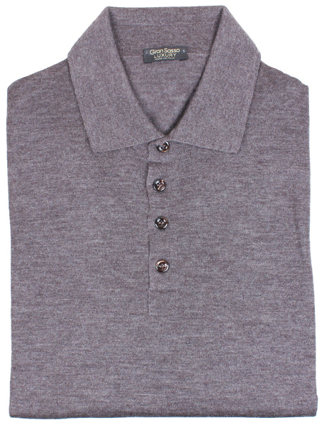 Brown Cashmere Knitted Polo