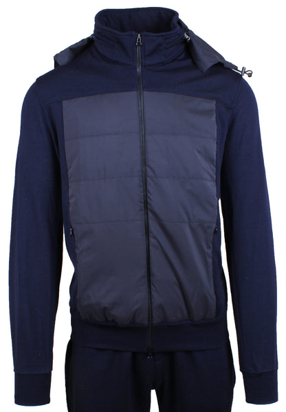 Citify Water Repellent Wool Tracksuit Navy