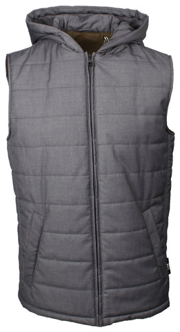 Lab Grey Hooded Gilet