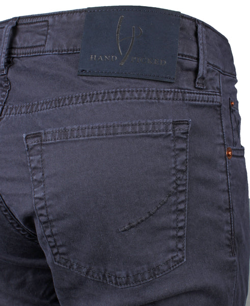 Ravello Navy 5 Pocket Cotton Trouser