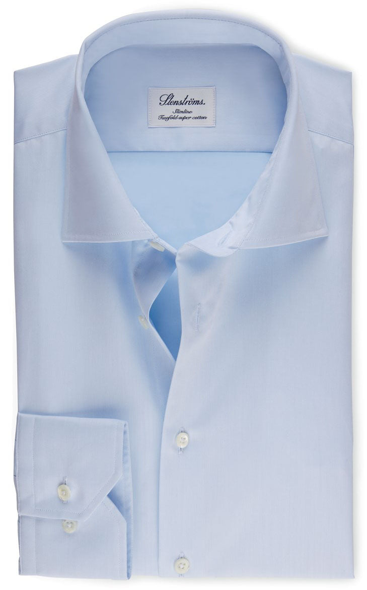 Superior Twill Blue Shirt Fitted Body