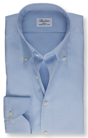 Blue Button Down Oxford Fitted Body