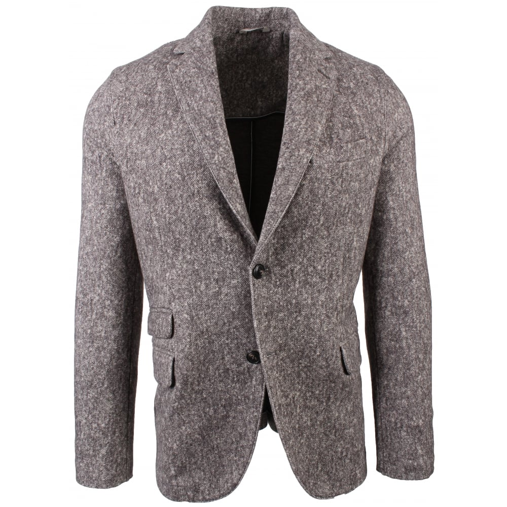 Circolo Stretch Jersey Printed Wool Effect Jacket