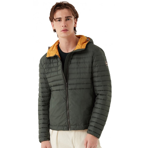 Olive Green Lightweight Quilted Down Jacket