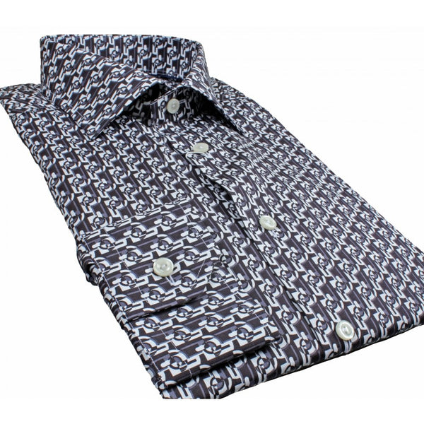 Black Optical Print Shirt