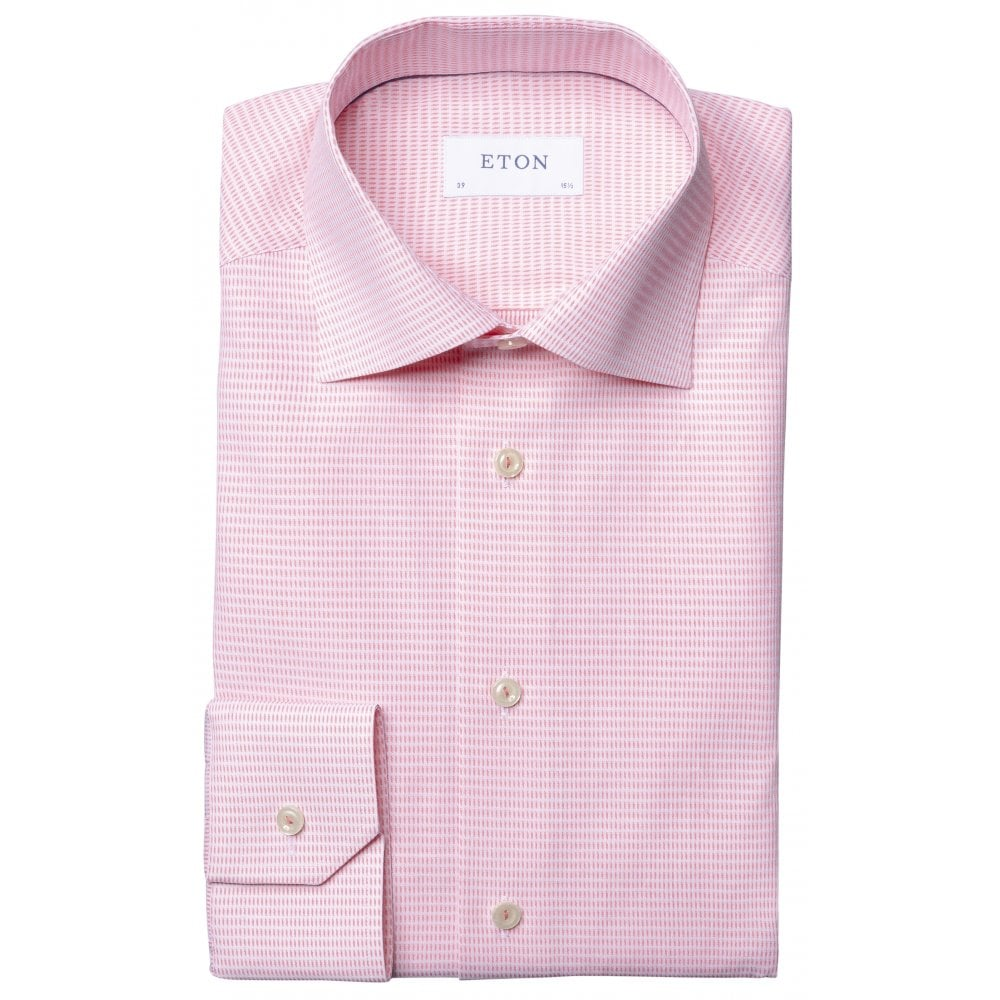 Pink Micro Weave Shirt