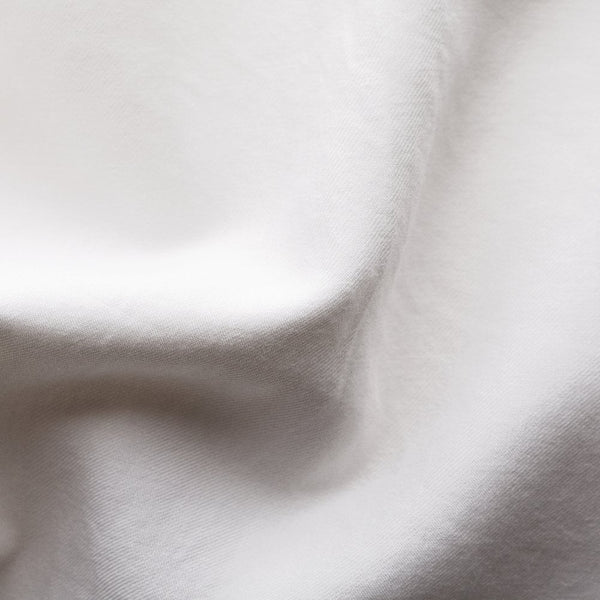 White Cotton Silk Shirt