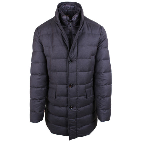 Galileo Wool/Cashmere Flannel Quilted Jacket