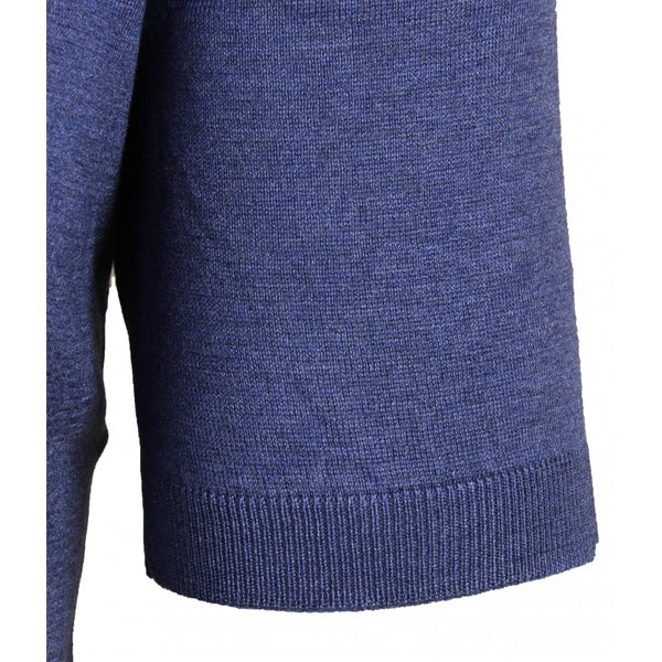 Blue Silk Knitted Polo